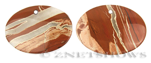 red jasper  oval puffed Pendants <b>about 70x50mm</b>     per   <b>Piece</b>