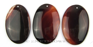 sardonyx  oval puffed Pendants <b>about 60x40mm</b>  color enhanced    per   <b>Piece</b>