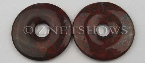 red jasper  donut Pendants <b>55mm</b>  with hematite   per   <b>piece</b>