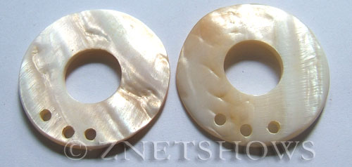 shell - white  donut Pendants <b>45mm</b>  with five hole   per   <b>Piece</b>