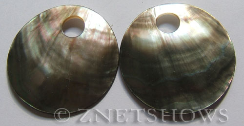 shell - black lip  donut Pendants <b>50mm</b>     per   <b>Piece</b>
