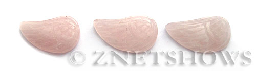 rose quartz  feathers shape Pendants <b>about 24x14mm</b>     per   <b> Piece</b>
