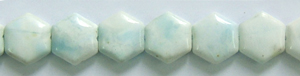 Other stone & material hemimorphite hexagon Beads <b>15mm</b>     per   <b> 15.5-in-str</b>