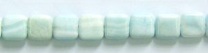 Other stone & material hemimorphite square puffed Beads <b>12mm</b>     per   <b> 15.5-in-str</b>
