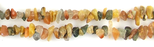 Other stone & material rutilated quartz multicolor chips Beads <b>about 8x5mm</b>     per   <b> 36-in-str</b>