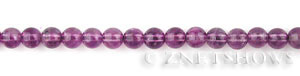 Other stone & material amethyst round Beads <b>7mm</b>     per   <b> 15.5-in-str</b>