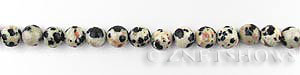 dalmatian jasper  round Beads <b>6mm</b>     per   <b> 15.5-in-str</b>
