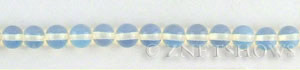 opalescent glass quartz  round Beads <b>6mm</b>     per   <b> 15.5-in-str</b>