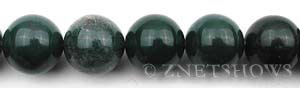 moss agate  round Beads <b>18mm</b>     per   <b> about 8-in-str</b>