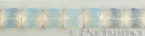 opalescent glass quartz faceted square puffed Beads <b>12mm</b>     per   <b> 15.5-in-str</b>