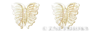 shell - golden lip  butterfly Pendants <b>42x40mm</b>  -carved-Style 2 (center image  shows)   per   <b>Piece</b>
