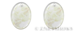 quartz glass -  pineapple  oval flat Pendants <b>40x30mm</b>     per   <b>Piece</b>