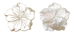 shell - golden lip  flower Pendants <b>70mm</b> carved    per   <b>Piece</b>