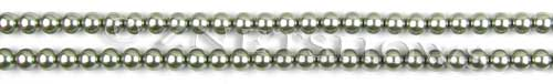 Glass Pearls <b>4mm</b> Round Sage Color K0551 (15.5-in-str)   per <b>5-str-hank</b>
