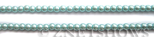 Glass Pearls <b>4mm</b> Round Light Tender blue Color K531   per <b>15.5-in-str</b>