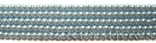 Glass Pearls <b>4mm</b> Round Blue Violet K0062(15.5-in-str)    per <b>5-str-hank</b>