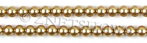 Glass Pearls <b>8mm</b> Round Khaki Color K0689 (15.5-in-str)   per <b>5-str-hank</b>