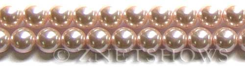 Glass Pearls <b>10mm</b> Round baby pink K165   per <b>15.5-in-str</b>
