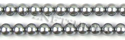 Glass Pearls <b>10mm</b> Round gray  K357   per <b>15.5-in-str</b>