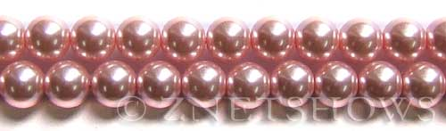Glass Pearls <b>10mm</b> Round pink  K502   per <b>15.5-in-str</b>