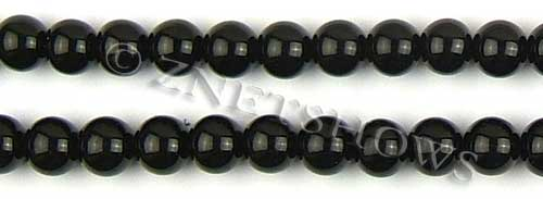 Glass Pearls <b>10mm</b> Round black K808   per <b>15.5-in-str</b>