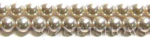 Glass Pearls <b>10mm</b> Round off white   K822   per <b>15.5-in-str</b>