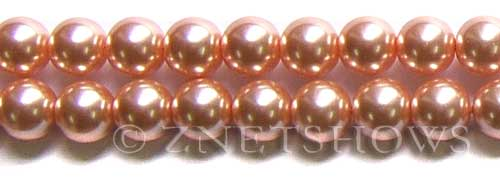 Glass Pearls <b>12mm</b> Round dusty pink   K237   per <b>15.5-in-str</b>