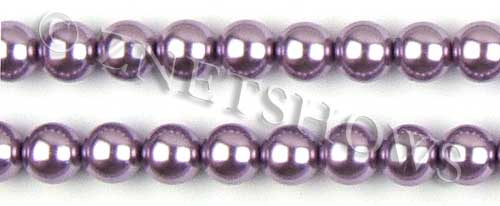 Glass Pearls <b>12mm</b> Round orchid  K562   per <b>15.5-in-str</b>