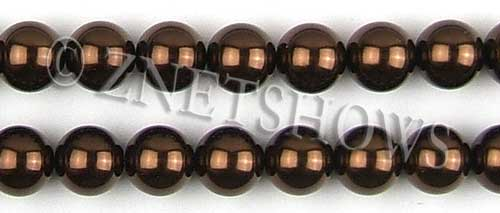 Glass Pearls <b>14mm</b> Round brown Color K396   per <b>15.5-in-str</b>