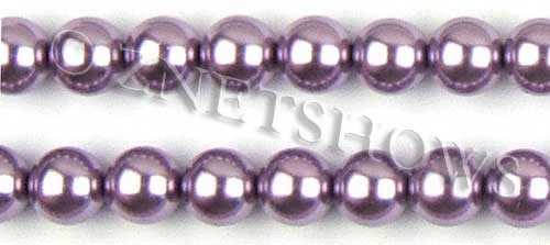 Glass Pearls <b>14mm</b> Round orchid K562   per <b>15.5-in-str</b>