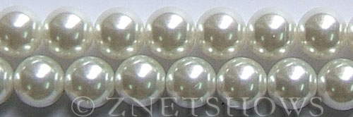 Glass Pearls <b>16mm</b> Round white K16   per <b>15.5-in-str</b>