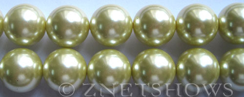 Glass Pearls <b>16mm</b> Round butter Color K121   per <b>15.5-in-str</b>