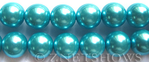 Glass Pearls <b>16mm</b> Round blue Color K246   per <b>15.5-in-str</b>