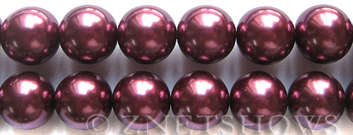 Glass Pearls <b>16mm</b> Round wine Color K294   per <b>15.5-in-str</b>