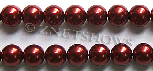 Glass Pearls <b>16mm</b> Round red K388   per <b>15.5-in-str</b>