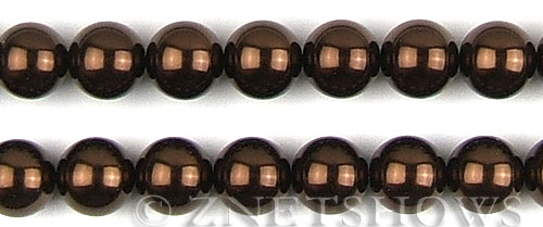 Glass Pearls <b>16mm</b> Round brown K396   per <b>15.5-in-str</b>