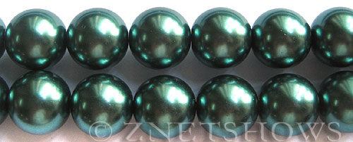Glass Pearls <b>16mm</b> Round teal green Color K1182   per <b>15.5-in-str</b>