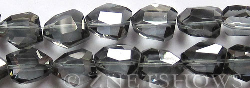 Tiaria Glass Crystal 70-Dark Tan Color nugget Beads <b>18x15mm</b> faceted     per   <b> 11-pc-str</b>