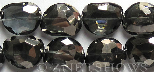 Tiaria Glass Crystal 70-Dark Tan Color nugget Pendants <b>27x22mm</b> faceted moon shape    per   <b> 8-pc-str</b>