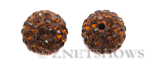 Tiaria Glass Crystal 18-Mocha bling ball Beads <b>10mm</b>    per   <b> 2-pc-bag</b>
