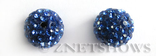 Tiaria Glass Crystal 33-Royal Blue bling ball Beads <b>10mm</b>      per   <b> 2-pc-bag</b>