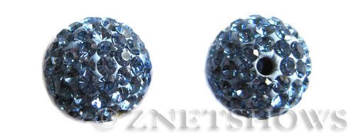 Tiaria Glass Crystal 31-Light Sapphire bling ball Beads <b>12mm</b>      per   <b> 2-pc-bag</b>
