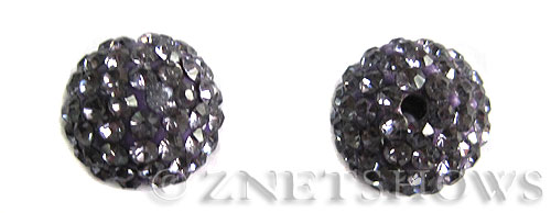 Tiaria Glass Crystal 34-Light Purple  bling ball Beads <b>12mm</b>      per   <b> 2-pc-bag</b>