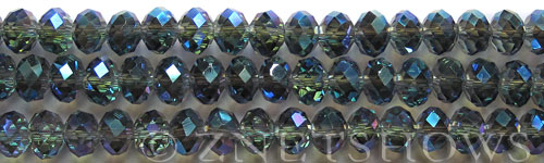 Tiaria Glass Crystal 118-Ultramarine Blue rondelle Beads <b>8x5mm</b> faceted     per   <b> 10-str-hank</b>