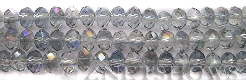 Tiaria Glass Crystal 121-Half Heliotrope rondelle Beads <b>8x5mm </b> faceted      per   <b> 10-str-hank</b>