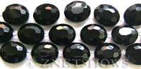 Tiaria Glass Crystal oval Beads <b>about 20x16mm</b> 02-Jet Black faceted (12-pc-str) per <b>8-in-str</b>
