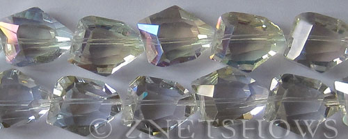 Tiaria Glass Crystal 01AB-Crystal AB nugget Beads <b>20x15mm</b> faceted     per   <b> 8-in-str (11-pc-str)</b>