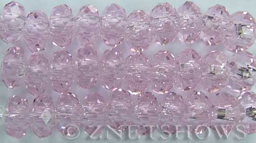 Tiaria Glass Crystal 06-Blossom Pink rondelle Beads <b>14x10mm</b> faceted 5mm large hole    per   <b> 10-pc-str</b>