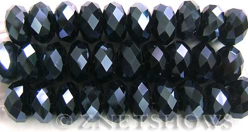 Tiaria Glass Crystal 100-Hematite rondelle Beads <b>14x10mm</b> faceted 5mm large hole    per   <b> 10-pc-str</b>