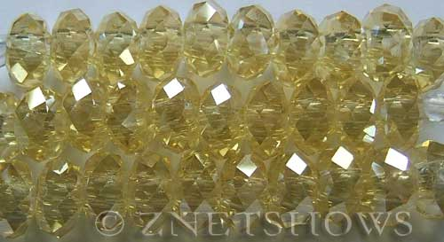 Tiaria Glass Crystal 10AB-Sunglow AB rondelle Beads <b>14x10mm</b> faceted 5mm large hole    per   <b> 10-pc-str</b>